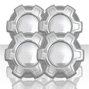 "Set of 4 7.41"" Center Caps for 2019-2020 Chevy Silverado 1500 New Model - Chrome"