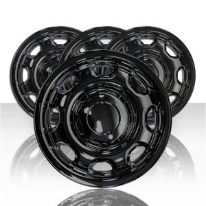 "Set of 4 17"" Wheel Skins for 2010-2020 Ford F-150 - Gloss Black"