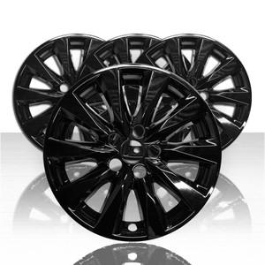 "Set of 4 17"" Wheel Skins for 2018-2021 Toyota Camry - Gloss Black"