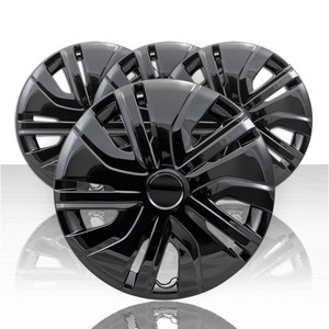 "Set of 4 14"" Wheel Covers for 2017-2019 Mitsubishi Mirage - Gloss Black"