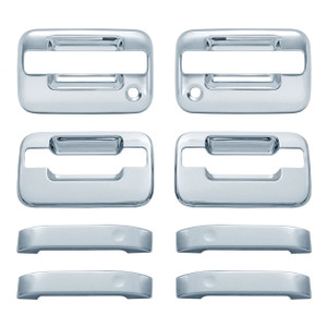 Auto Reflections | Door Handle Covers and Trim | 04-14 Ford F-150 | 11106-f-150-Chrome-Door-Handle-Covers