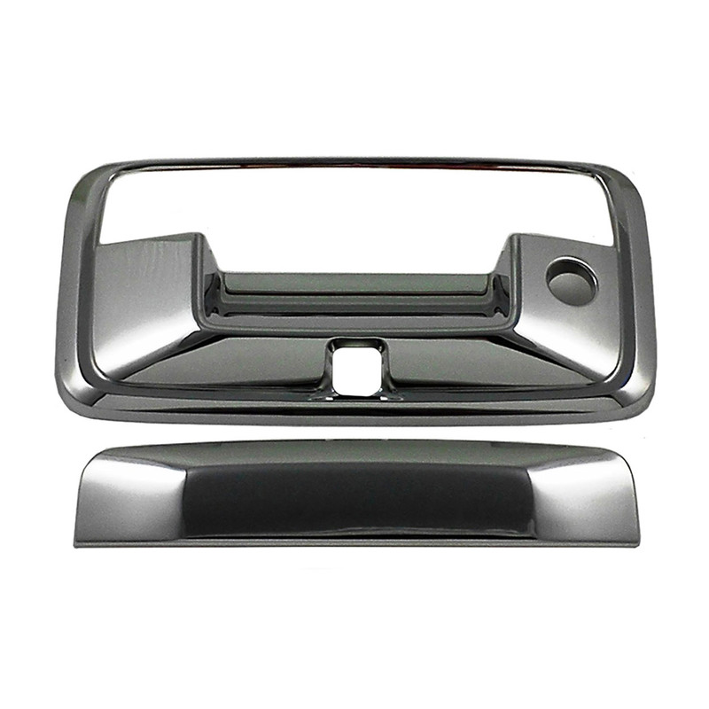 14-15 GMC Sierra Crew Cab Chrome Full Mirror+4 Door Handle+Tailgate w//Cam Cover