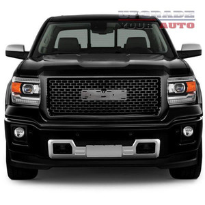 Full Replacement Gloss Black Factory Style Denali Grille fits 2014-15 GMC Sierra