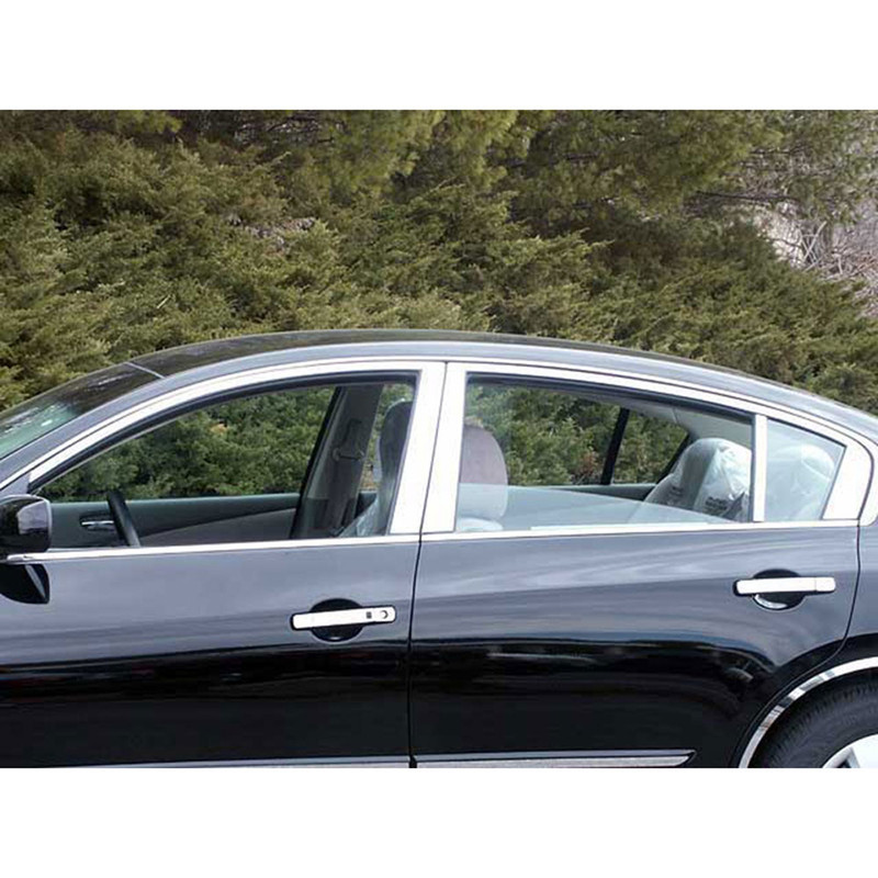 Upgrade Your Auto 10pc Luxury FX Chrome Pillar Post Trim for 2013-2016 Toyota Rav4