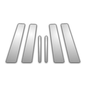 Auto Reflections | Pillar Post Covers and Trim | 02-09 Jaguar X | P3942-Chrome-Pillar-Posts