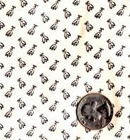 "Blue Hill Fabrics ""Vintage Shirtings"" Black & Cream"