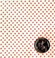 "Blue Hill Fabrics ""Vintage Shirtings"" Red & Cream"