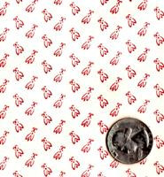"Blue Hill Fabrics ""Vintage Shirtings"" Red & Cream II"