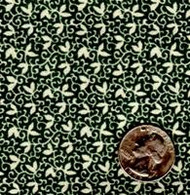 "Blue Hill Fabrics ""The Yorktown Collection Circa 1850"" Green Vine"