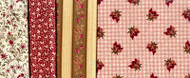 """Yorktown Collection Circa 1850"" Red Fat Quarter Bundle"