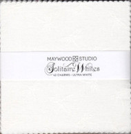 "Maywood Studios ""Solitaire Whites-Ultra White"" Charm Pack"