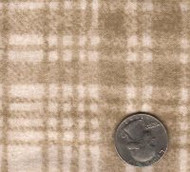 "Maywood Studios ""Woolies Flannel"" Large Plaid Beige"