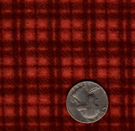 "Maywood Studios ""Woolies Flannel"" Medium Plaid Orange/ Red"