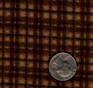 "Maywood Studios ""Woolies Flannel"" Medium Plaid Dark Brown"