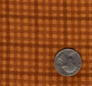 "Maywood Studios ""Woolies Flannel"" Small Check Gold/Brown"