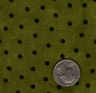 "Maywood Studios ""Woolies Flannel"" Dot Green"