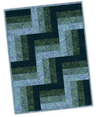 "Maywood Studios Precut ""Forest Park"" 12 Block Rail Fence Quilt Kit w/ FREE BATIK BACKING"