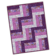 "Maywood Studios Precut ""Raspberry Cream"" Batik 12 Block Rail Fence Quilt Kit w/ FREE BATIK BACKING"