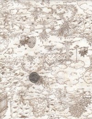 "Maywood Studios ""Thyme with Friends"" Brown Toile'"