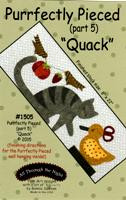 """""""Purrfectly Pieced - Part 5"""" Applique Cat Pattern"""