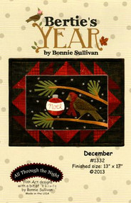 """Bertie's Year-December"" Applique Pattern"