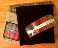 """Over & Down Under""  Quilt Kit in Folk Art Colors w/ Backing"
