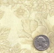 "108"" Wide Blender Quilt Back Tone-on-Tone Floral Beige"
