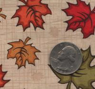 "Patrick Lose Fabrics -Autumn Palette ""Maple Leaves"" Ivory"