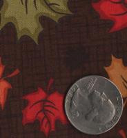 "Patrick Lose Fabrics -Autumn Palette ""Maple Leaves"" Brown"