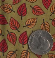 "Patrick Lose Fabrics -Autumn Palette ""Small Leaves"" Moss"