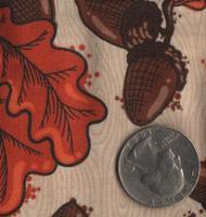 """Patrick Lose Fabrics -Autumn Palette """"Acorns & Leaves"""" Persimmon"""