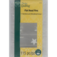 Dritz Quilting Flat Head Pins  w/ Numbers/Directional Arrows)