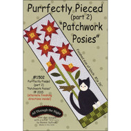 """Purrfectly Pieced - Part 2"" Applique Cat Pattern"