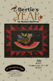"""Bertie's Year-July"" Applique Pattern"
