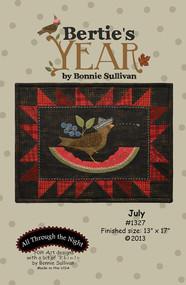 """""""Bertie's Year-July"""" Applique Pattern"""
