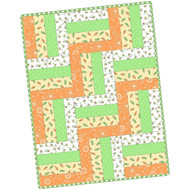 "Maywood Studios ""Lil' Sprout Flannel Too!"" Precut Rail Fence Quilt Kit"