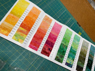 AAAQuilter's Supply Batik Swatch Card - Plain Batiks