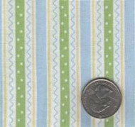 David Textiles Blue, Green & Yellow Stripe