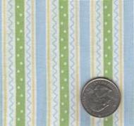 David Textiles Blue, Green & Yellow Stripe