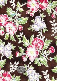 "Maywood Studios ""Folk Art Home"" Brown Floral"