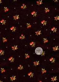 "Maywood Studios ""Chrysanthemum"" Dark Brown Floral"