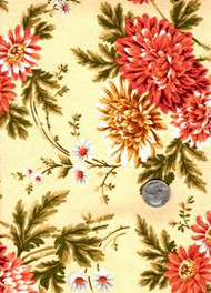 "Maywood Studios ""Chrysanthemum"" Peach Floral"
