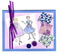 """Handmade Notecard"" Blue"
