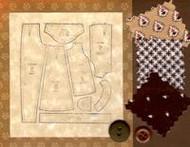 """""""Handmade Notecard"""" Brown"""
