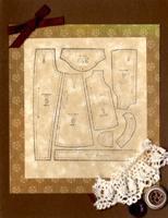 """Handmade Notecard"" Brown Pattern Pieces"