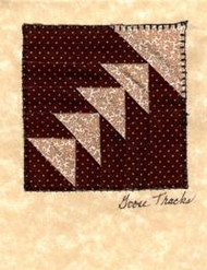"""Handmade Notecard"" Tan Goose Tracks"