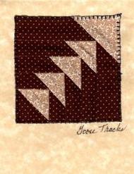 """Handmade Notecard"" Tan Goose Tracks"