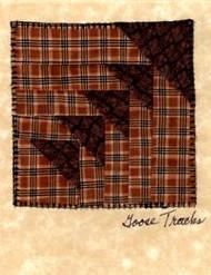 """Handmade Notecard"" Dark Brown Goose Tracks"