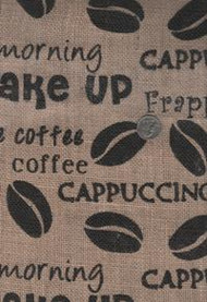 "Springs ""Printed Burlap"" Coffee Beans"