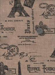 "Springs Industries ""Printed Burlap"" Paris"